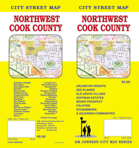 Buy map Cook County, Northwest, Illinois by GM Johnson