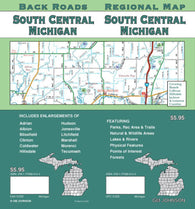 Buy map Michigan, South Central, Back Roads by GM Johnson