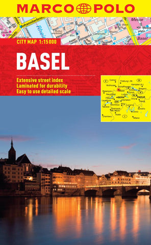 Buy map Basel, Switzerland by Marco Polo Travel Publishing Ltd