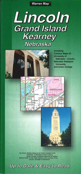 Buy map Lincoln, Grand Island and Kearney, Nebraska by The Seeger Map Company Inc.