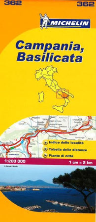 Buy map Campania and Basilicata, Italy (362) by Michelin Maps and Guides