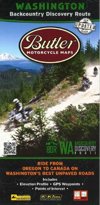 Buy map Washington BDR Map by Butler Motorcycle Maps