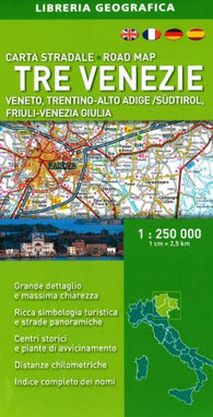 Buy map Tre Venezie/Triveneto, Italy, Road Map by Libreria Geografica