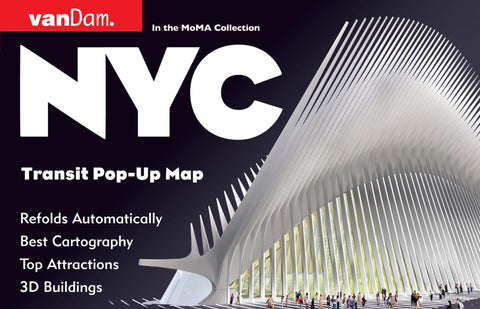 Buy map New York City, Transport Pop-Up by VanDam