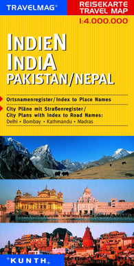 Buy map India, Pakistan, and Nepal by Kunth Verlag