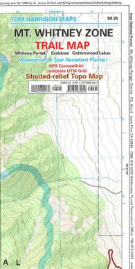 Buy map Mount Whitney Zone, California by Tom Harrison Maps