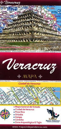 Buy map Veracruz, Mexico, State and Major Cities Map by Ediciones Independencia