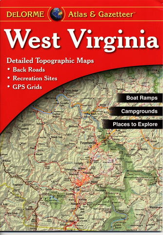 Buy map West Virginia, Atlas and Gazetteer by DeLorme