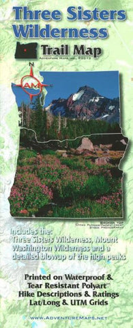 Buy map Three Sisters Wilderness Trail Map by Adventure Maps