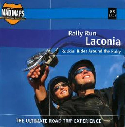 Buy map Mad Maps - Rally Run Road Trip Map - Laconia - RRLA01 by MAD Maps