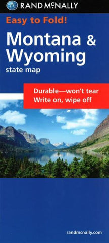 Buy map Montana and Wyoming, Easy to Fold by Rand McNally