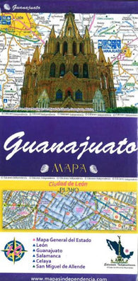 Buy map Guanajuato, Mexico, State and Major Cities Map by Ediciones Independencia