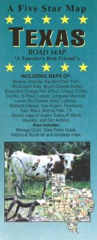 Buy map Texas by Five Star Maps, Inc.