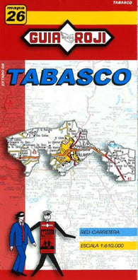Buy map Tabasco, Mexico, State Map by Guia Roji