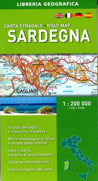 Buy map Sardinia/Sardegna, Road Map by Libreria Geografica