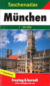 Buy map Munich, Germany, Small Pocket Atlas by Freytag-Berndt und Artaria