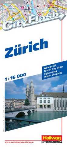 Buy map Zurich, Switzerland City Flash Map by Hallwag