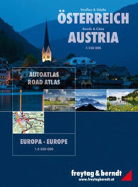 Buy map Austria + Europe, Road Atlas by Freytag-Berndt und Artaria