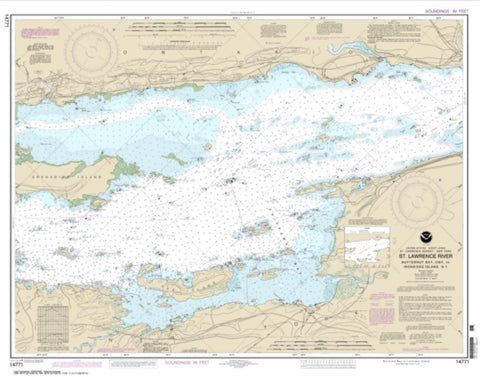 Buy map Butternut Bay, Ont., to Ironsides l., N.Y. (14771-17) by NOAA
