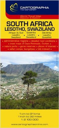 Buy map South Africa, Lesotho and Swaziland by Cartographia