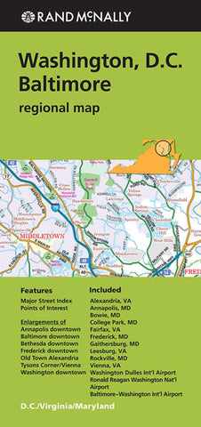 Buy map Washington, D.C. and Baltimore Regional by Rand McNally