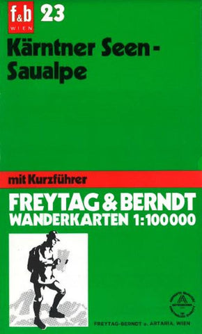 Buy map Karntner Seen and Saualpe, WK 23 by Freytag-Berndt und Artaria