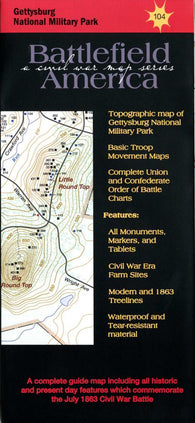 Buy map Gettysburg National Military Park #104 by Trailhead Graphics, Inc.