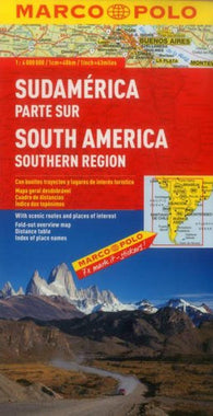 Buy map South America, South by Marco Polo Travel Publishing Ltd