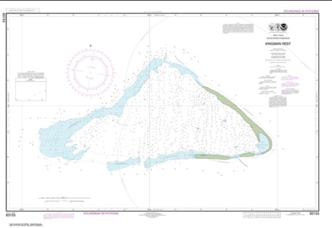 Buy map United States Possesion Kingman Reef (83153-2) by NOAA
