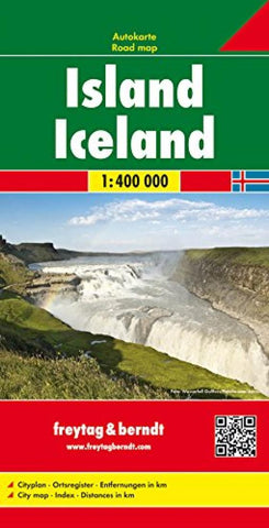 Buy map Iceland by Freytag-Berndt und Artaria