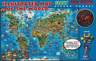 Buy map Dinos, World Puzzle by Dino Maps