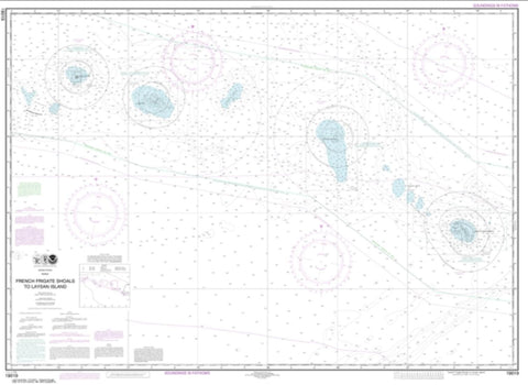 Buy map French Frigate Shoals to Laysan Island (19019-11) by NOAA