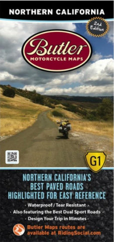 Buy map Northern California G1 Map by Butler Motorcycle Maps