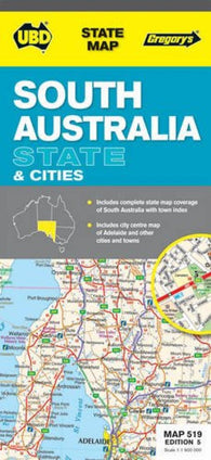 Buy map South Australia State and Cities (waterproof) by Universal Publishers Pty Ltd