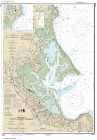 Buy map Harbors of Plymouth, Kingston and Duxbury; Green Harbor (13253-20) by NOAA
