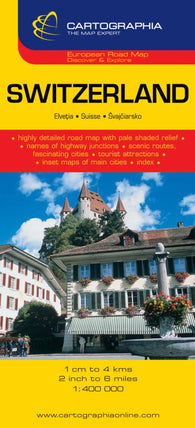 Buy map Switzerland by Cartographia