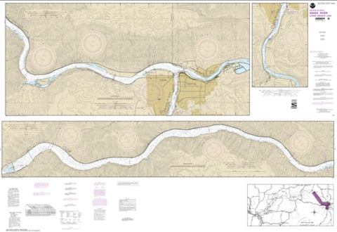Buy map Snake River-Lower Granite Lake FRANKLIN D. ROOSEVELT LAKE (18548-5) by NOAA