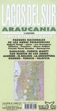 Buy map Lagos del Sur and Araucania by Zagier y Urruty