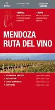 Buy map Mendoza, Wine Route (Spanish/English edition) by deDios