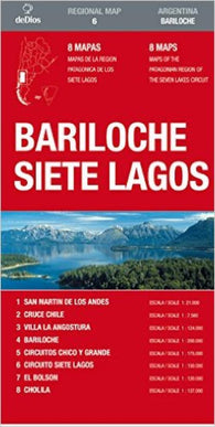 Buy map Bariloche and Siete Lagos by deDios