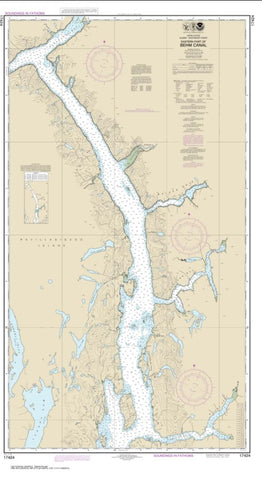 Buy map Behm Canal-eastern part (17424-9) by NOAA