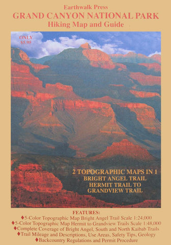 Buy map Grand Canyon National Park, Arizona, Hiking Map and Guide by Earthwalk Press
