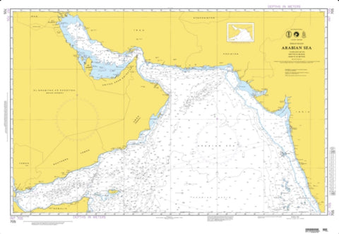 Buy map Arabian Sea (Omega) (NGA-705-3) by National Geospatial-Intelligence Agency