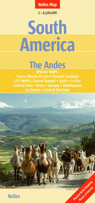 Buy map South America and The Andes by Nelles Verlag GmbH