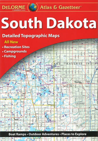 Buy map South Dakota, Atlas and Gazetteer by DeLorme