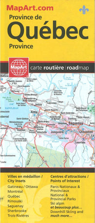 Buy map Quebec Province Road Map by MapArt