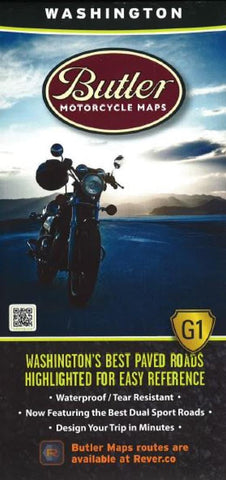 Buy map Washington G1 Map by Butler Motorcycle Maps
