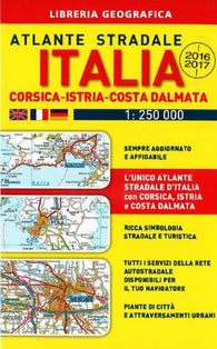 Buy map Italy, Corsica, Istria, Dalmatian Coast, Road Atlas by Libreria Geografica