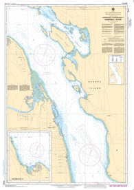 Buy map Approaches to/Approches a Campbell River by Canadian Hydrographic Service