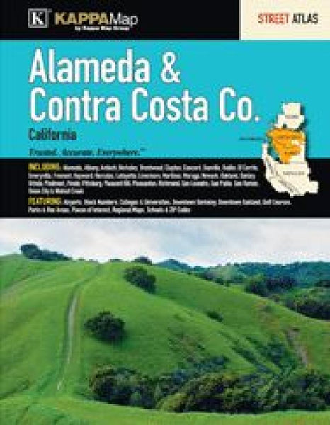 Buy map Alameda & Contra Costa Counties, CA, Street Atlas by Kappa Map Group